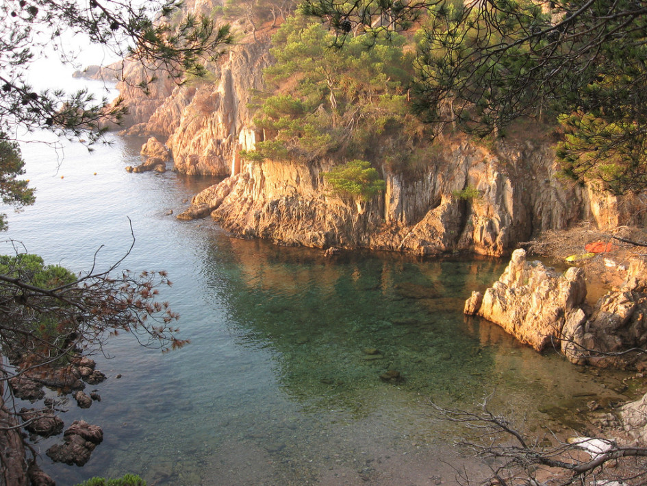 beaches of the Catalan coast aigua xelida